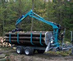 Remorca forestiera combinata