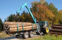 Remorca forestiera 12 tone